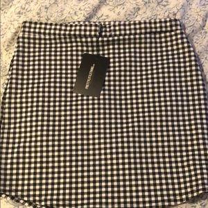 New! PLT gingham printed skirt